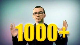 1000+ ПОДПИСЧИКОВ!!