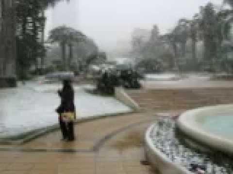 Snow in Place du Casino - 2010.04.18 Monaco