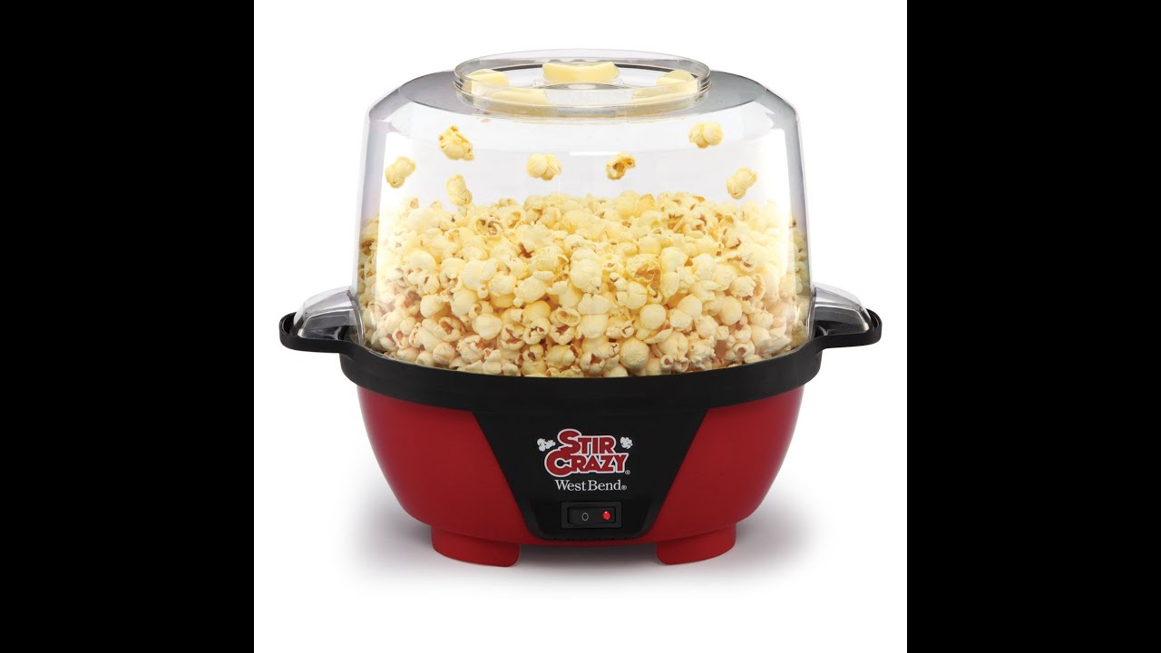 West Bend 82505 Stir Crazy Popcorn Popper 6 Quart Youtube