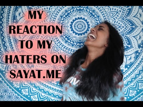 ♡ MY REACTION TO MY HATERS ON SAYAT.ME | VOGUEUNICORN ♡