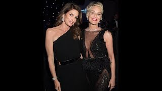 Cindy Crawford and Sharon Stone attend Forbes Travel Guide dinner
