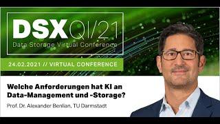 KEYNOTE (Prof. Dr. Alexander Benlian): Welche Anforderungen hat KI an Data-Management und -Storage?