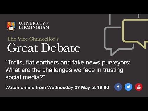 The Vice Chancellor's Great Debate: Trolls, Flat-earthers And Fake News Purveyors