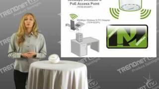 trendnet 300mbps wireless n poe access point tew 653ap 802 11n spotlight