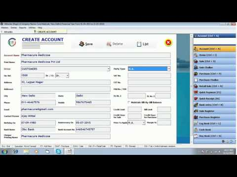 How to create Ledger Accounts in Miracle Pharma Software : www.solversolutions.in