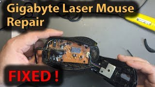 #299 How to repair an optical mouse, Gigabyte Laser Mouse Repair