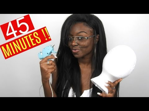 How To Make a Wig under an Hour | w/ A Glue Gun | Ft. Peerless Hair