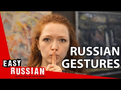 The meaning of gestures in Russia | Super Easy Russian 34