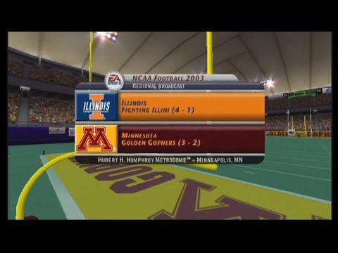 NCAA Football 2003: Season Game 6: Illinois at Minnesota