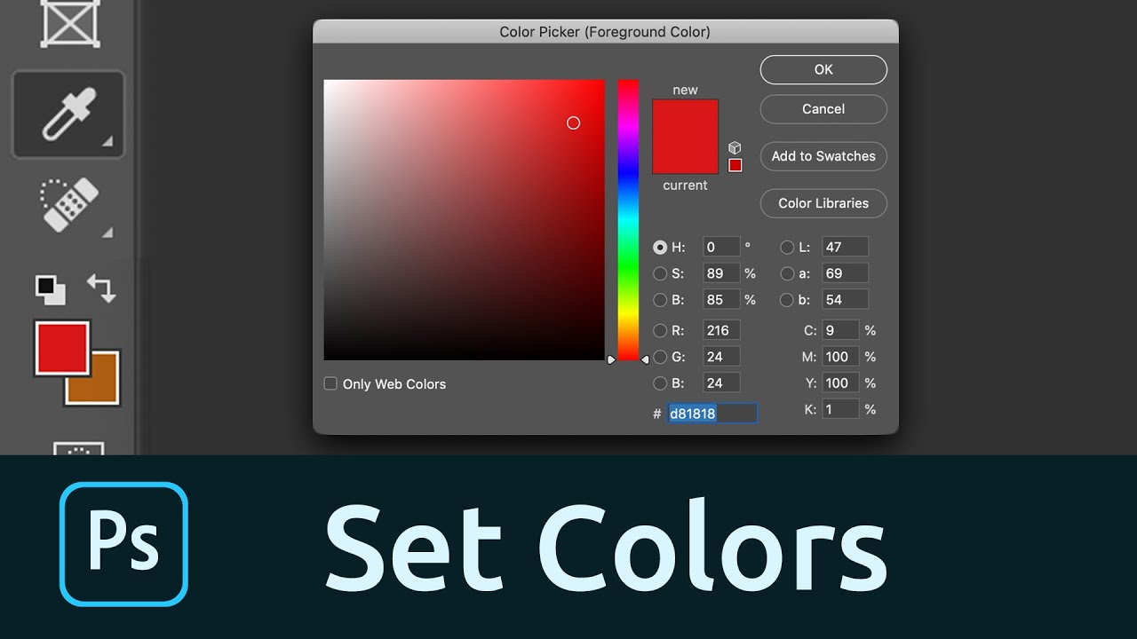 How To Set The Foreground And Background Colors In Photoshop   YouTube