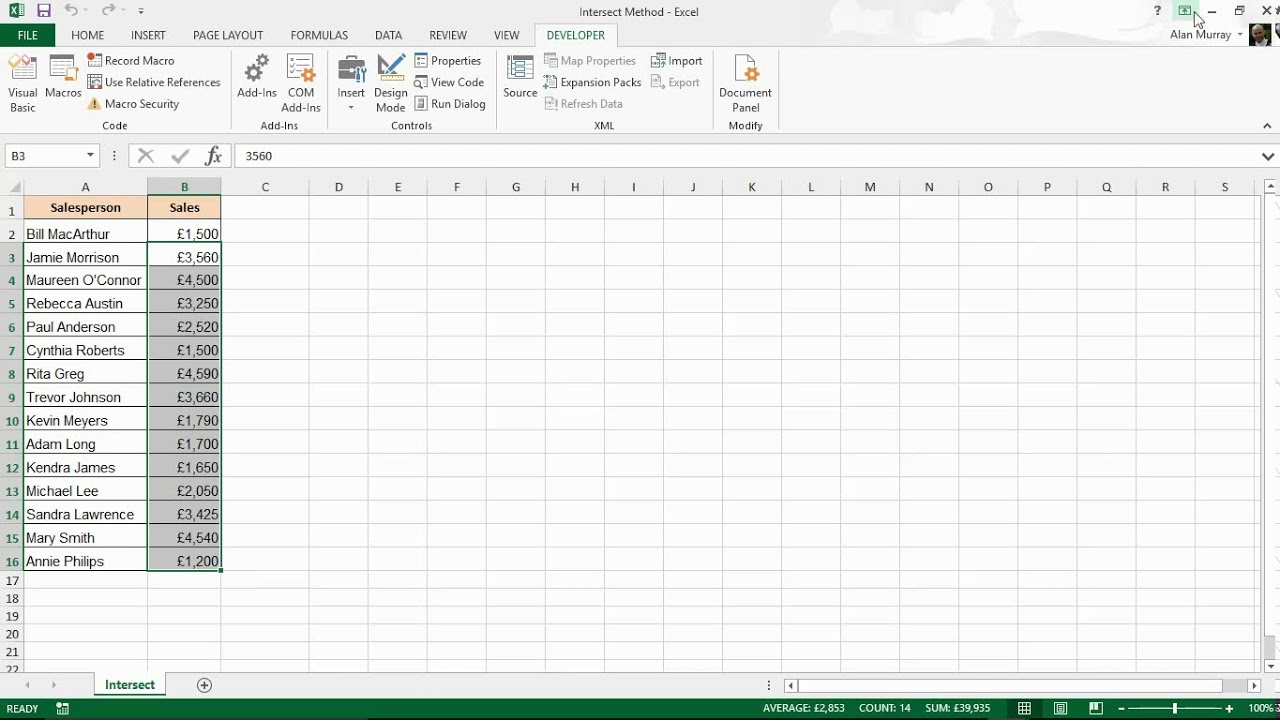 Excel VBA Intersect Method Explained with Two Examples ...