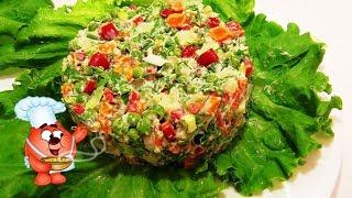 Овощной, витаминный  салат  на каждый день с ветчиной