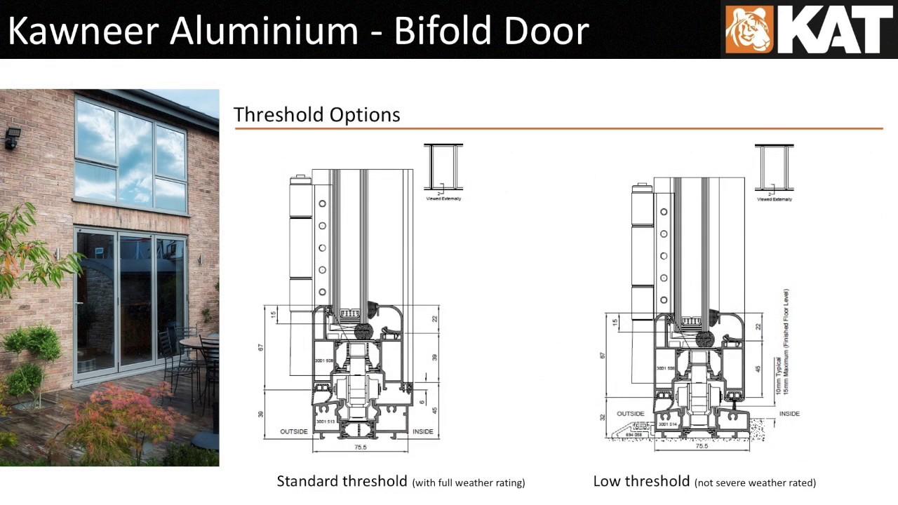 Kawneer Aluminium Bifold Door - YouTube