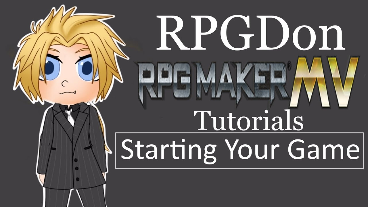 RPG Maker MV Tutorial -starting your game-