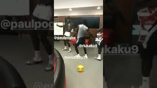 Paul pogba,lukaku and Eric bailly dancing.t