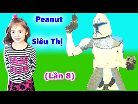 Buổi Đi Siêu Thị Đồ Chơi Tại Mỹ (Lần 8) Chị Bí Đỏ Bé Peanut Đi Siêu Thị Toys