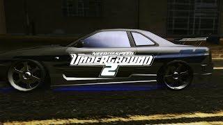NFS:UG2 Redux Graphics Mod Paul Walkers 2 Fast 2 Furious R34 Skyline