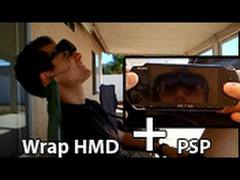 PSP w/ Vuzix VR Video Glasses HMD Head Mounted Display