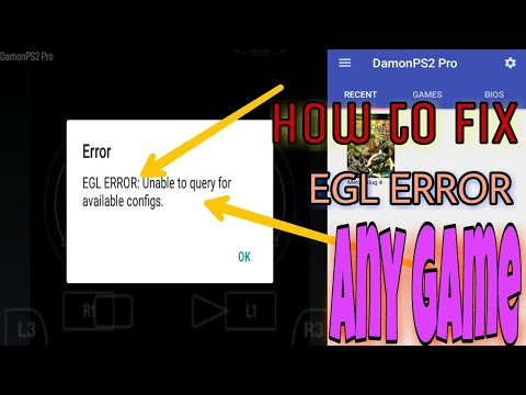 How To Fix Demon Ps2 Pro Egl Error Any Game Any Android (hindi/ordu)