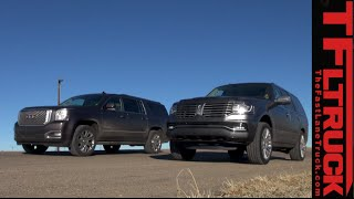 2015 Lincoln Navigator vs GMC Yukon XL: 0-60 MPH Drag Race & Review