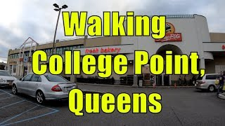 ⁴ᴷ Walking Tour of College Point and Downtown Flushing, Queens, NYC