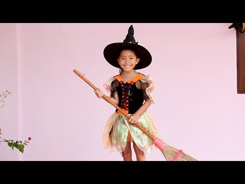 Beli Baju Halloween Penyihir -  Halloween Costume For Kids - Halloween Haul Try On