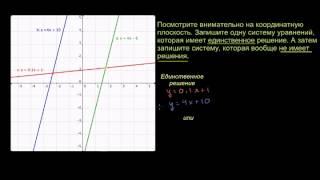 Решение систем уравнений графическим способом 2