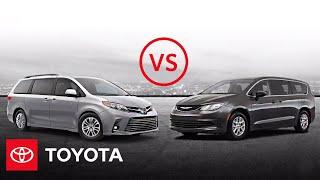 homepage tile video photo for 2020 Toyota Sienna XLE vs. 2020 Chrysler Voyager LX | Minivan Comparison | Toyota