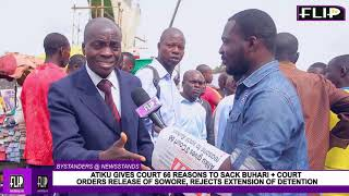 ATIKU GIVES COURT 66 REASONS TO SACK BUHARI  COURT ORDERS RELEASE OF SOWORE REJECTS EXTENSION OF D