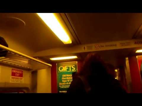 Folcroft PA Septa Local Train Arriving - Headed to Center City Philadelphia