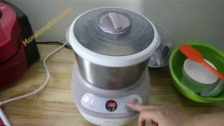 Làm bánh mì với máy nhồi ủ bột Bear 5l