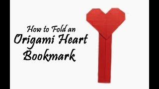 How to Fold an Easy Origami Heart Bookmark Tutorial