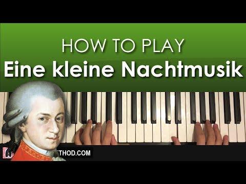 HOW TO PLAY - Mozart - Eine kleine Nachtmusik (Piano Tutorial Lesson)