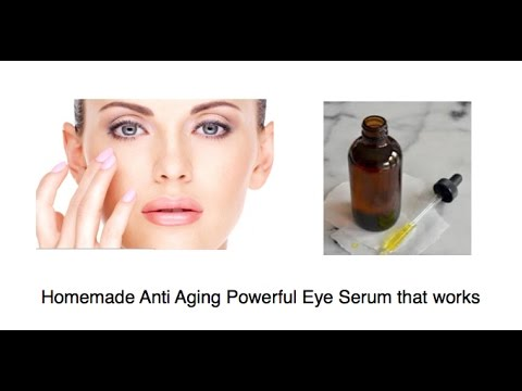 DYI Eye Serum. Homemade Anti Aging