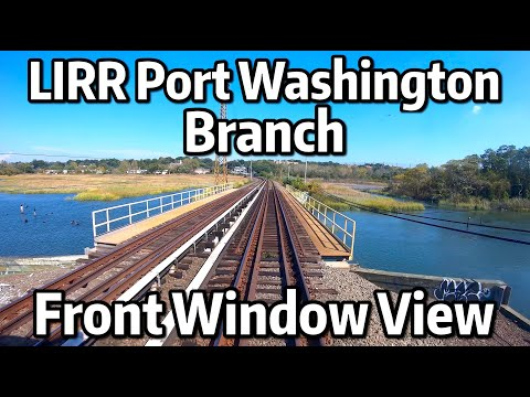 ⁴ᴷ⁶⁰ Long Island Railroad Front Window View - The Eastbound Port Washington Branch