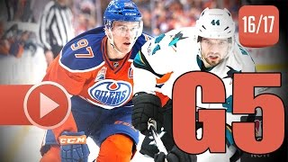 San Jose Sharks vs Edmonton Oilers. 2017 NHL Playoffs. Round 1. Game 5. April 20th, 2017. (HD)