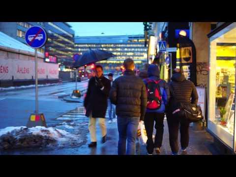 Sweden, Stockholm, walking from Central Station to Sergels torg