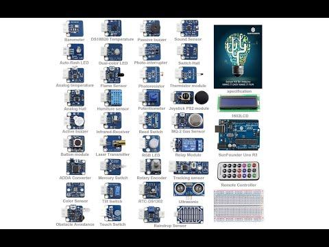 Review und Praxistest SunFounder 37 modules UNO R3 Sensor Kit V2.0 for Arduino UNO, Mega und Nano