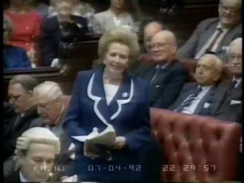 Margaret Thatcher's Maiden Speech In Lords - YouTube