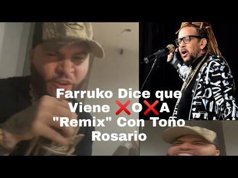 """Farruko Canta XOXA en Directo, Dice que Viene el """"Remix"""" con Toño Rosario"""