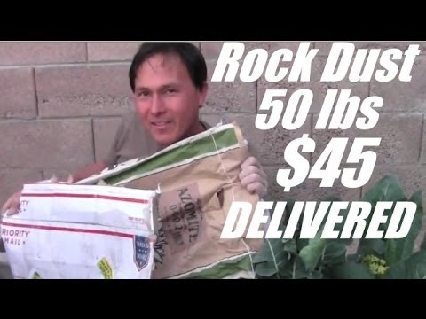Rock Dust 50 lbs with Free Shipping - Lowest Price I Have Found!