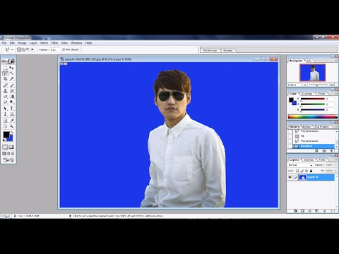 How To Erase And Change Background Color In PHOTOSHOP 7:P-2.Easily Change The Background Of An Image