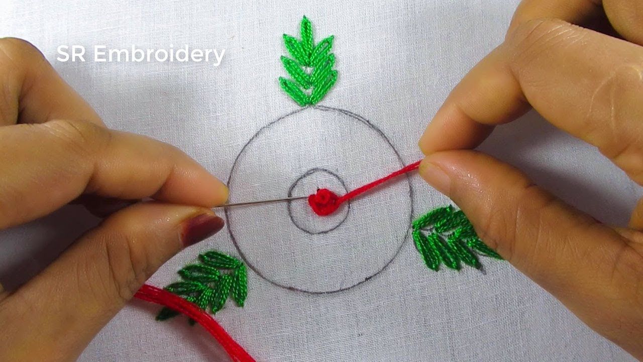 Circle Brazilian Design Stitch,Hand Embroidery Circle Embroidery Stitch,For Cushion Cover