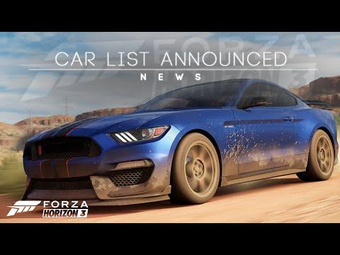 First Cars Announced Forza Horizon 3 Car List Funnydog Tv