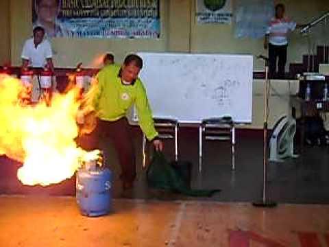 LPG Fire extinguishment