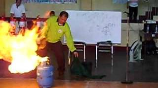 LPG Fire extinguishment