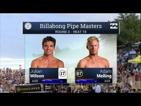 Julian Wilson vs Adam Wilson - Round Three, Heat 10 - 2015 Billabong Pipe Masters