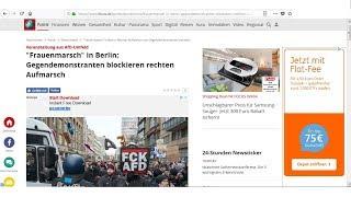 Mainstreamberichte über Frauenmarsch in Berlin vom 17.02.2018