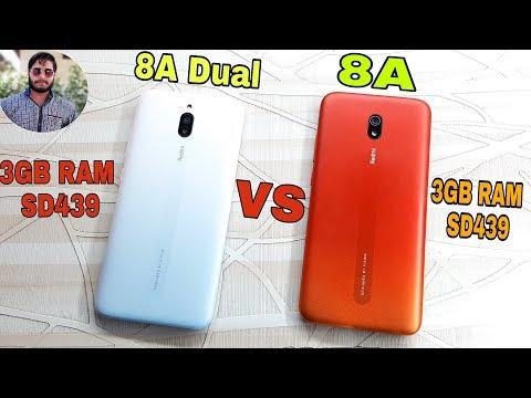 Redmi 8A Dual vs Redmi 8A  Speed Test Comparison?