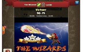The Wizards vs COC (Clash of Clans) 30 vs 30 {Perfect Score}😍💪🏽